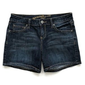 Arizona Jean Shorts Dark Blue Distressed Denim